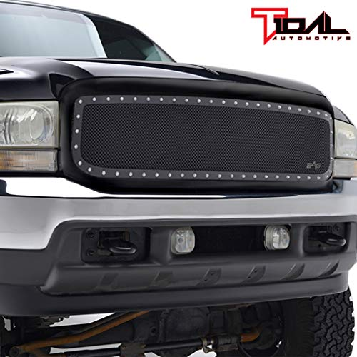 (Rivet Stainless Steel Grille for 99-04 Ford Super Duty F250 F350 F450 F550)