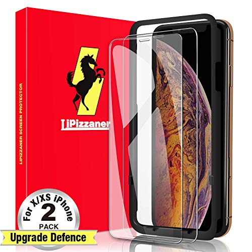 Lipizzaner iPhone 11 Pro Screen Protector, iPhone Xs Screen Protector, iPhone X Screen Protector ,[2 Pack][Japanese Material] [9H Hardness] [HD Clarity] [Case Friendly] Tempered Glass Screen Protector For iPhone 11 Pro & iPhone Xs & iPhone X (5.8 Inch) - Clear (Christmas Screensaver Iphone)