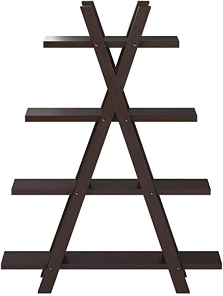 Coaster Home Furnishings X-Shape Bookcase Cappuccino