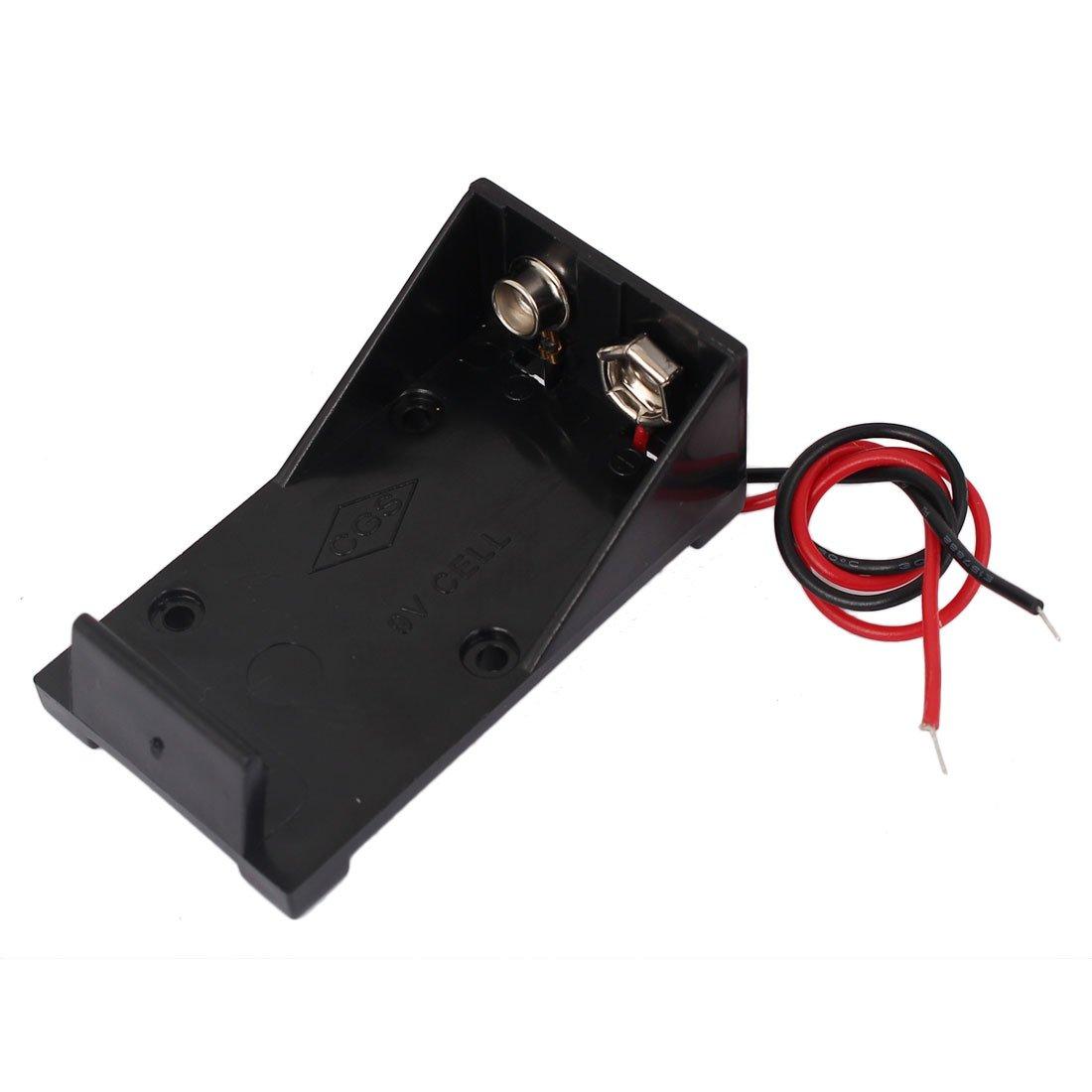 sourcingmap® 2Stk Doppel Draht Leitung 9V Batterie ABS Speicherung ...