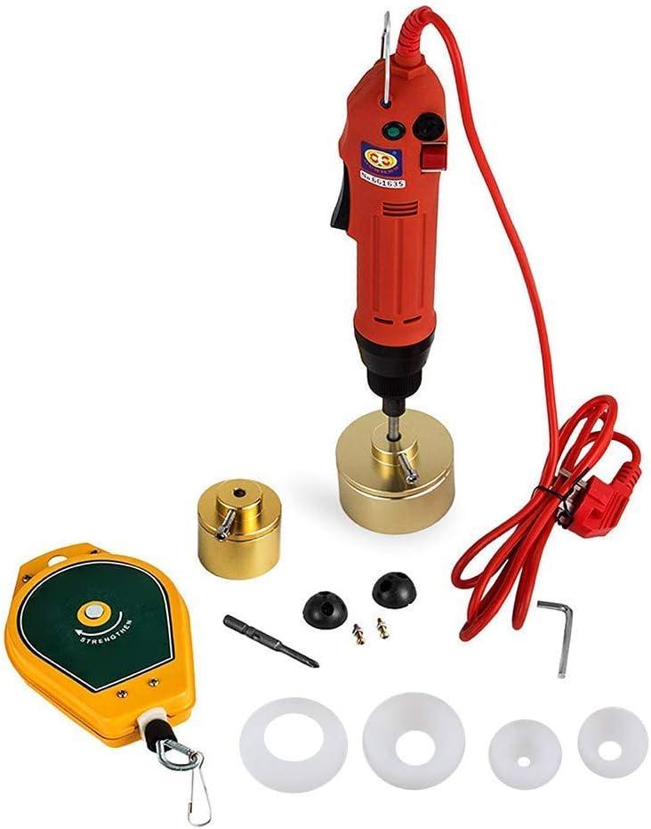 FGVBC Máquina taponadora de Botellas eléctrica 220V tapón de Rosca Manual taponadora 10-50mm Punta de Tornillo semiautomática
