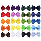 #8: JIAKAI 20pcs Polyester material Solid Color Adjustable Boys Kids Bow Tie Collection (Random color)