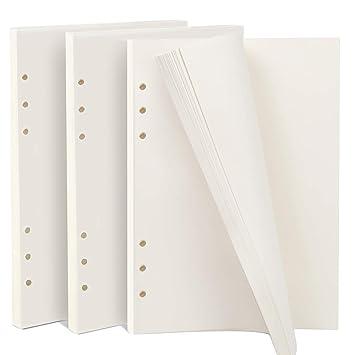 Papel de recambio para agenda Filofax, tamaño A5, 6 anillas ...