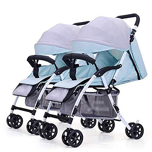 LQRYJDZ Cochecito de bebé Gemelo, Carro Infantil Doble Desmontable ...