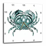 3dRose Print Vintage Crab in Teal Color – Wall Clock, 13 13-Inch (DPP_210598_2) Review