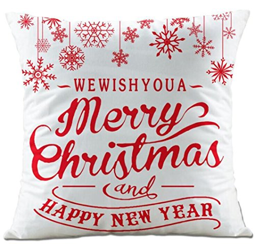 Throw Training Pillow (Christmas Pillow Covers, Zulmaliu Merry Christmas and New Year Super Soft Pillow Case Decorative Cushion Square Throw Pillow Cover (Color E))