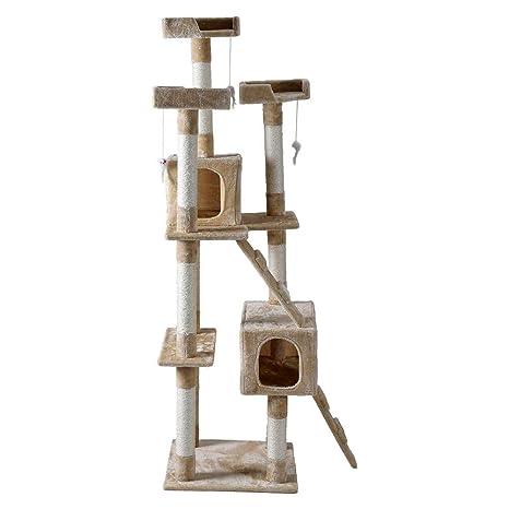 GOTOTOP 5-Nivel Árbol de Gato Rascador de Escalada Casa de Gatito Mascota para Jugar