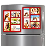 Wind & Sea Magnetic Picture Collage Frame for Refrigerator, 2-Pack, Red