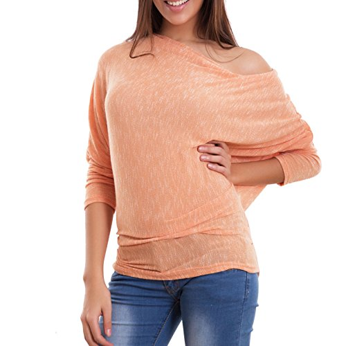 Toocool - Camiseta de manga larga - para mujer naranja