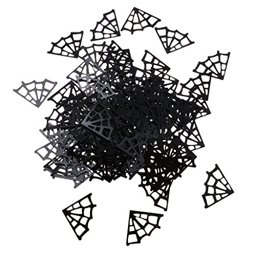 D DOLITY 1 Bag Plastic Spider Webs Halloween Throwing Table Confetti Party Supplies