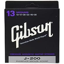 Gibson Gear J200 Coated Phosphor Bronze Acoustic Guitar Strings, Medium