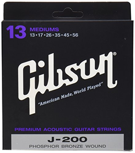Gibson Gear SAG-J200 Coated Phosphor Bronze Acoustic Guitar Strings, Medium