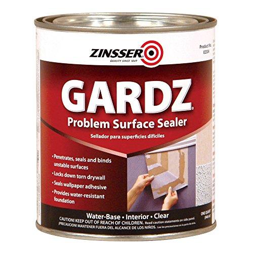 Rust-Oleum 2304 White Zinsser Gardz Problem Surface Sealer, 1 Quart Can (Pack of 6)
