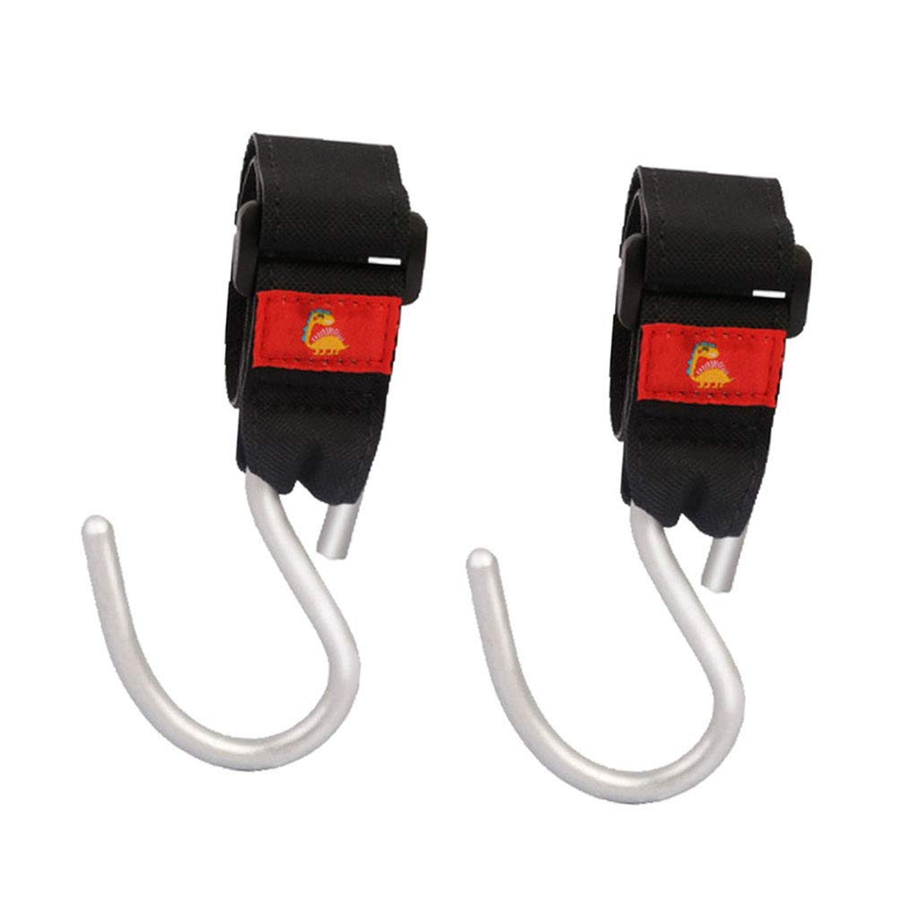 Baoblaze 2x Pram Pushchair Buggy Stroller Clip Hook Carrier Shopping Bag buddy holder