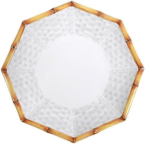 Plate Melamine 10.5 (Merritt Botanica Bamboo 10.5-inch Octagonal Melamine Dinner Plates, Set of 6)