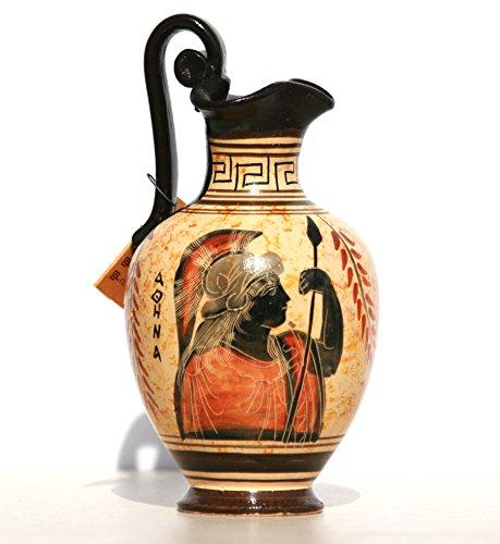 Greek black-figure Ceramic Vase Pot Pottery Painting Goddess Athena (Greek Art Vases)