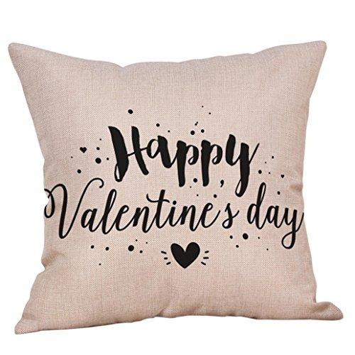 Pillow Training Throw (Pillowcases, Zulmaliu Lovers Painting Linen Cushion Cover Throw Waist Pillow Case Sofa Valentine's Day Decor (Black E))