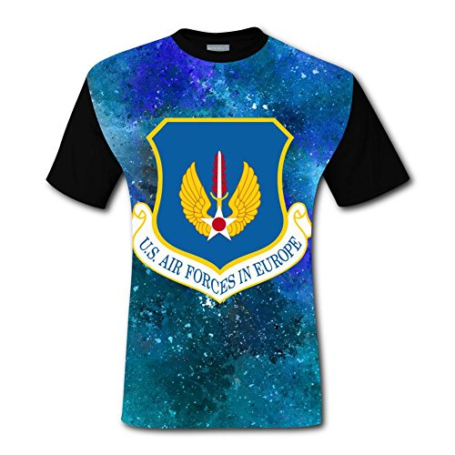 CuGuGo Mens United States US Air Forces 3D T Shirt Short Sleeve ()