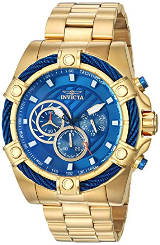 Invicta Men's Bolt Quartz Watch with Stainless-Steel Strap, Gold, 25.2 (Model: 25516) (Invicta Mens Watches Bolt)