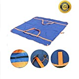 hybag Waterproof and Sandproof Camping Blanket, Multipurpose Portable Beach Mat and Tote for Beach Outdoor Camping (Blue)
