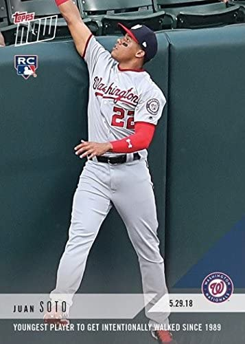 BAS Juan Soto 2018 Topps Now Autographed RC Rookie Card #235