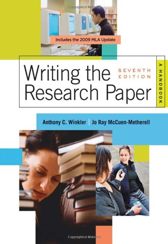 Writing the Research Paper: A Handbook, 2009 MLA Update Edition (2009 MLA Update Editions)