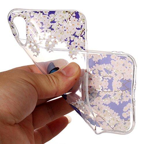 Custodia iPhone X , LH TPU Trasparente Silicone Cristallo Morbido Case Cover Custodie per Apple iPhone X