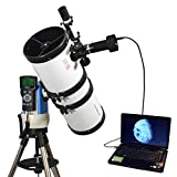 White 6'' Computer Controlled Reflector Telescope with 14MP Digital USB Camera