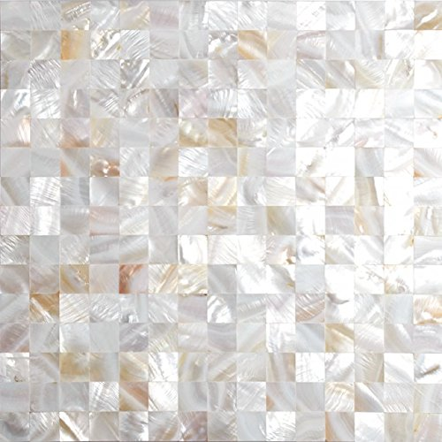 TST Freshwater Shell Mother of Pearl Tiles Slice Natural Shell White Seamless Shinning Mosaic Tile MOP-SNMN-20 For Sale