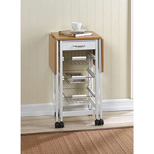 Hibiscus 3-shelf Extended Kitchen Cart