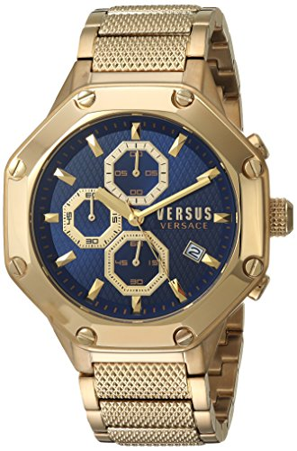 Versus by Versace Men's 'KOWLOON' Quartz Stainless Steel and Gold Plated Casual Watch(Model: - Versus Versace Men