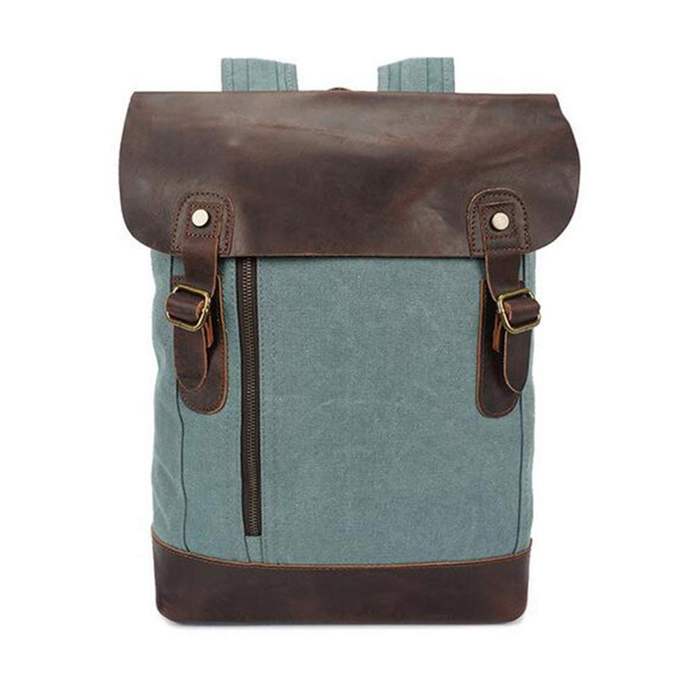 HXZB Canvas Shoulder Bag Retro Men Student Fashion Travel Casual Backpack