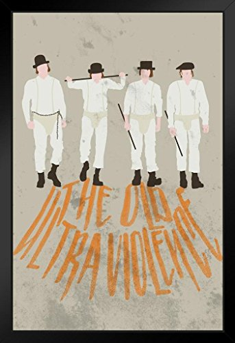 The Old Ultra Violence Minimalist Movie Framed Poster 14x20 inch -