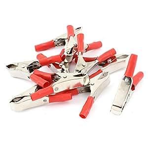 10 pi ces d 39 essai rouge batterie de voiture pince crocodile pince connecteur. Black Bedroom Furniture Sets. Home Design Ideas