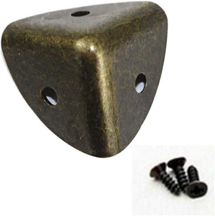 XIAOSI DIY Delicate Wooden Case Furniture Furniture Part Decor Corner Protector Hardware Corner Foot Corner Bracket(Bronze)