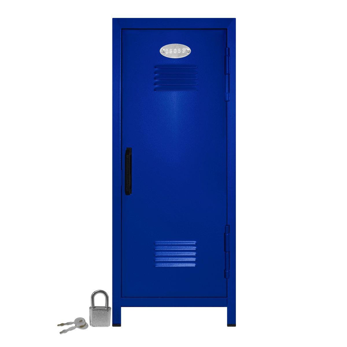 Mini Locker with Lock and Key Blue -10.75'' Tall x 4.125'' x 4.125'' by Mini Lockers by Magnetic Impressions