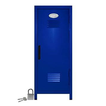 Amazon.com : Mini Locker with Lock and Key Blue -10.75