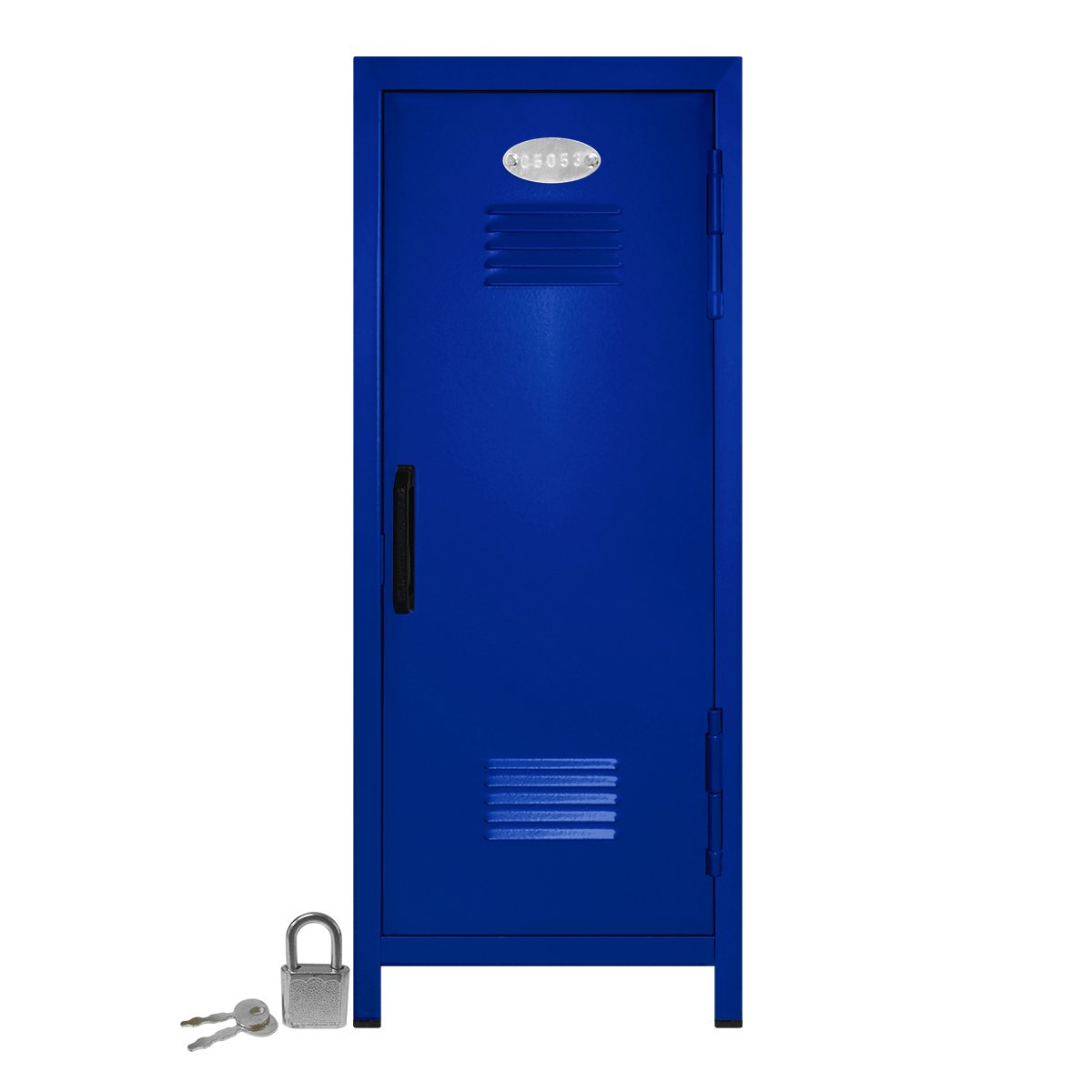 Mini Locker with Lock and Key Blue -10.75'' Tall