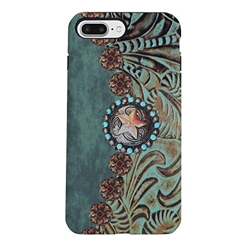 CafePress - Country Western Turquoise iPhone 7 Plus Tough Case - iPhone 8 Plus/iPhone 7 Plus Phone Case, Phone Shell