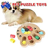 Wooden Puppy Treat Dispenser Dog Interactive Puzzle Toys Dog IQ Training Game AU