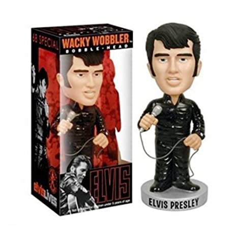 Inconnu - Figura Elvis Presley King Rock Roll traje negro 68 USA ...