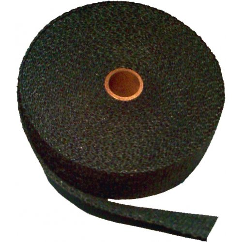 Thermo-Tec Heat Resistant Insulating Exhaust Wrap, 15 Metres (50 Feet) Long, 1' Wide - Graphite Black 1 Wide - Graphite Black