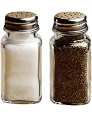 Circleware Yorkshire Salt and Pepper Shakers, 2-Piece Set, Home and Kitchen Utensils, 2.85 oz, Plain B07FMHGFQH
