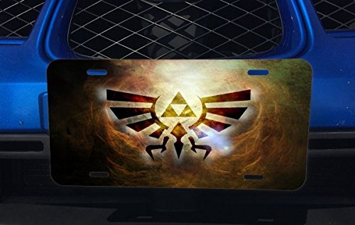 Triforce Symbol Design Pattern Print Aluminum License Plate for Car Truck Vehicles