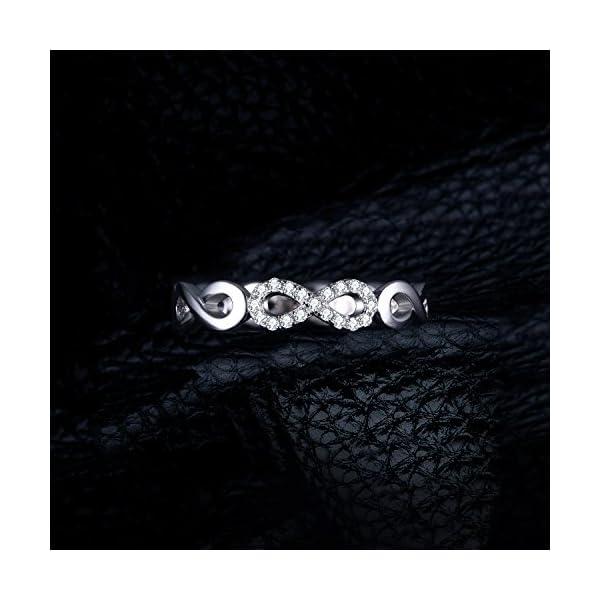 JewelryPalace Infinito Eterno Amore Cubic Zirconia Anniversario Promessa Anello 925 Sterling Argento
