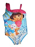 Nick Jr Dora The Explorer Toddler Girls Pink Ruffle One Piece Swimsuit