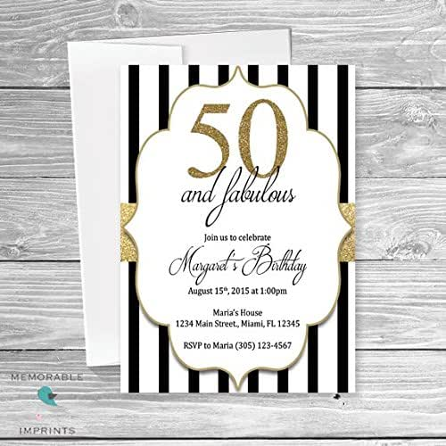 50th birthday invitations 50 and fabulous for 50th birthday decoration packages
