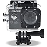 "ABLEGRID® SJ5000 WIFI Novatek 96655 12MP 2.0"" LCD 1080P 170 Degree Wide Angle Sports DV Waterproof Action Camera Camcorder Outdoor for Bicycle Motorcycle Diving Swimming Black"
