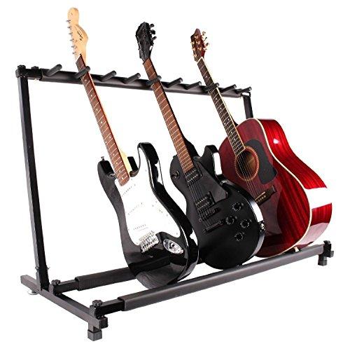 tms guitar stand 9 holder guitar folding stand rack band stage bass acoustic guitar buy online. Black Bedroom Furniture Sets. Home Design Ideas