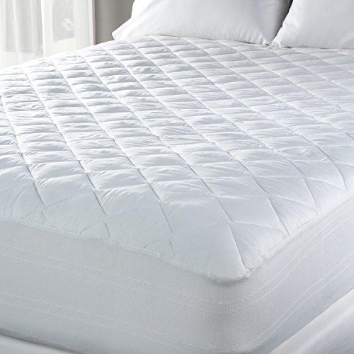 - Luxury Eddie Bauer 300 TC Hypoallergenic Premium Cotton Mattress Pad - Medium Weight - Made in the USA (Queen)